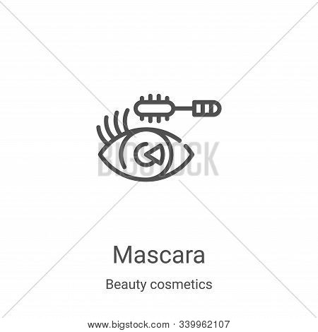 mascara icon isolated on white background from beauty cosmetics collection. mascara icon trendy and