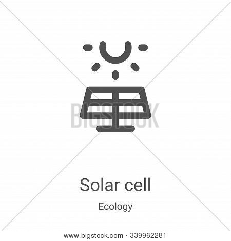 solar cell icon isolated on white background from ecology collection. solar cell icon trendy and mod
