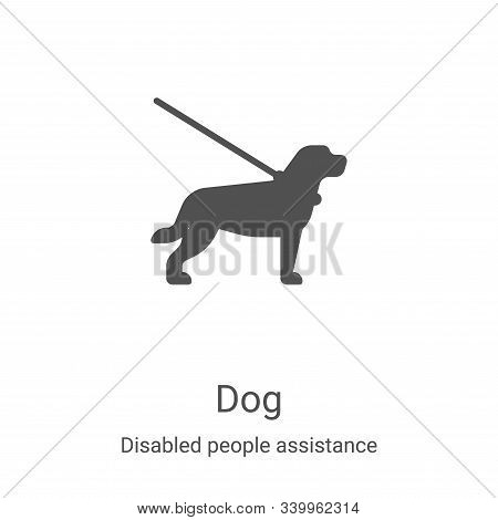 dog icon isolated on white background from disabled people assistance collection. dog icon trendy an