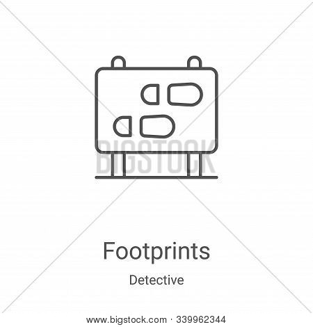 footprints icon isolated on white background from detective collection. footprints icon trendy and m