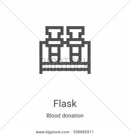 flask icon isolated on white background from blood donation collection. flask icon trendy and modern