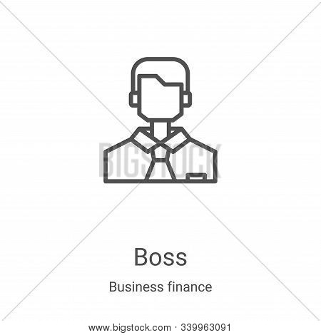 boss icon isolated on white background from business finance collection. boss icon trendy and modern