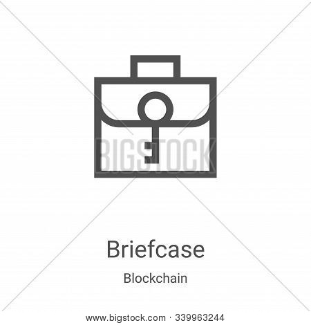 briefcase icon isolated on white background from blockchain collection. briefcase icon trendy and mo