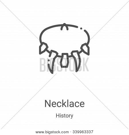 necklace icon isolated on white background from history collection. necklace icon trendy and modern