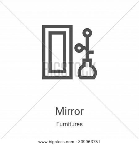 mirror icon isolated on white background from furnitures collection. mirror icon trendy and modern m