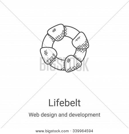 lifebelt icon isolated on white background from web design and development collection. lifebelt icon