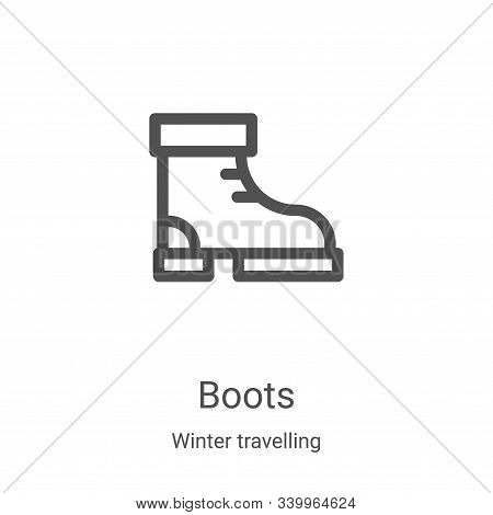 boots icon isolated on white background from winter travelling collection. boots icon trendy and mod