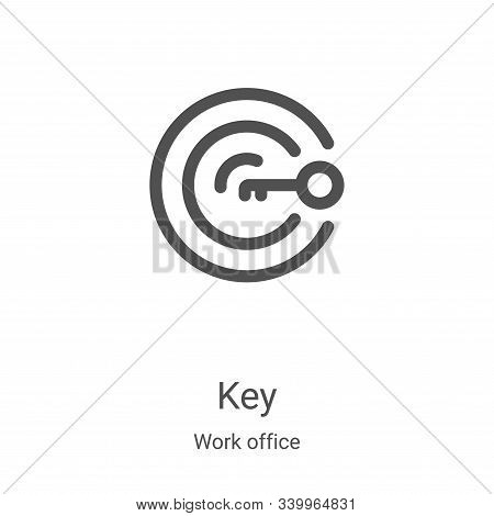 key icon isolated on white background from work office collection. key icon trendy and modern key sy