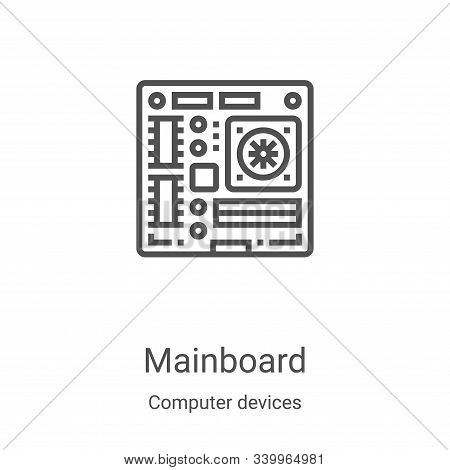 mainboard icon isolated on white background from computer devices collection. mainboard icon trendy