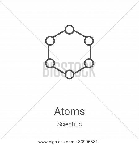 atoms icon isolated on white background from scientific collection. atoms icon trendy and modern ato