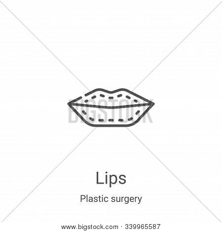 lips icon isolated on white background from plastic surgery collection. lips icon trendy and modern