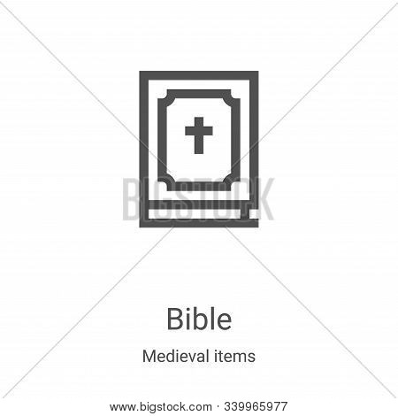 bible icon isolated on white background from medieval items collection. bible icon trendy and modern