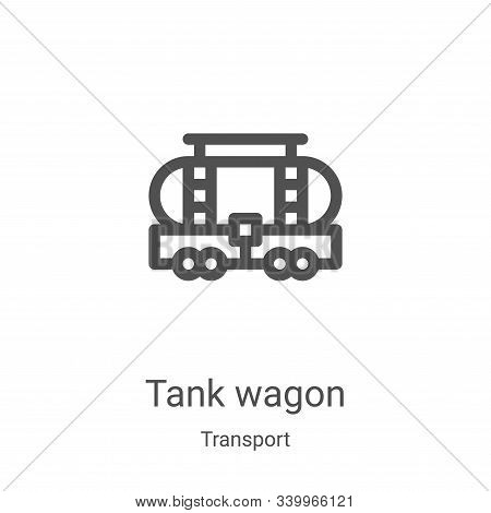 tank wagon icon isolated on white background from transport collection. tank wagon icon trendy and m
