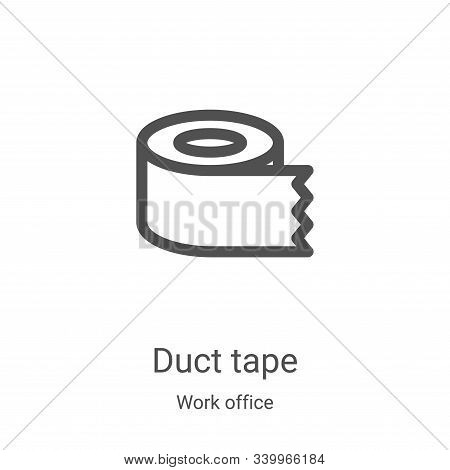 duct tape icon isolated on white background from work office collection. duct tape icon trendy and m