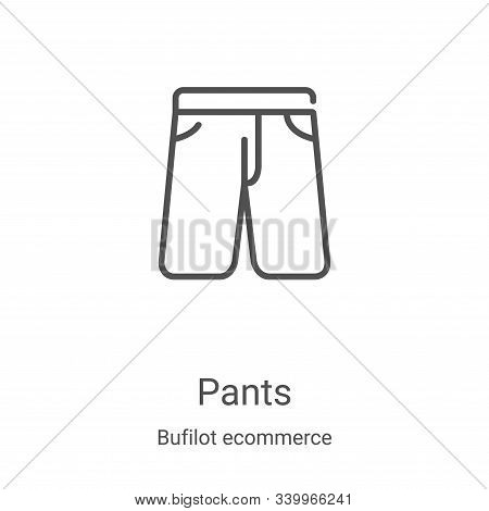 pants icon isolated on white background from bufilot ecommerce collection. pants icon trendy and mod