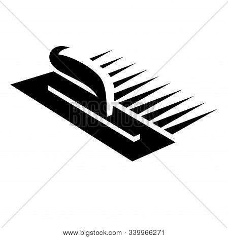 A Trowel Plastering Concrete Icon On White Background, Vector