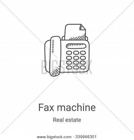 fax machine icon isolated on white background from real estate collection. fax machine icon trendy a