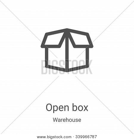 open box icon isolated on white background from warehouse collection. open box icon trendy and moder