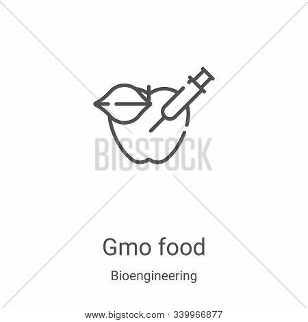 gmo food icon isolated on white background from bioengineering collection. gmo food icon trendy and