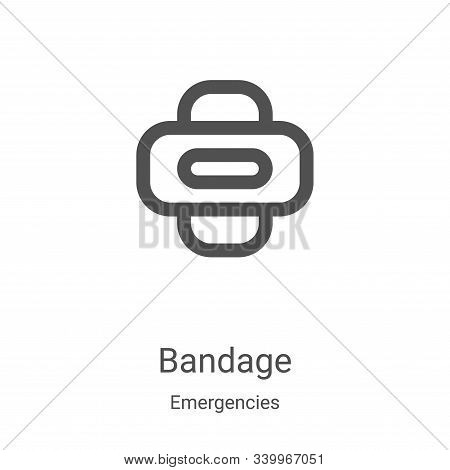bandage icon isolated on white background from emergencies collection. bandage icon trendy and moder