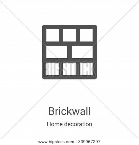 brickwall icon isolated on white background from home decoration collection. brickwall icon trendy a