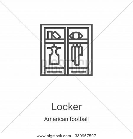 locker icon isolated on white background from american football collection. locker icon trendy and m