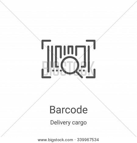 barcode icon isolated on white background from delivery cargo collection. barcode icon trendy and mo