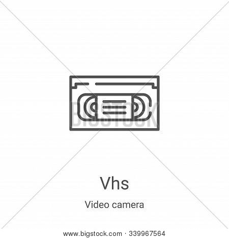 vhs icon isolated on white background from video camera collection. vhs icon trendy and modern vhs s