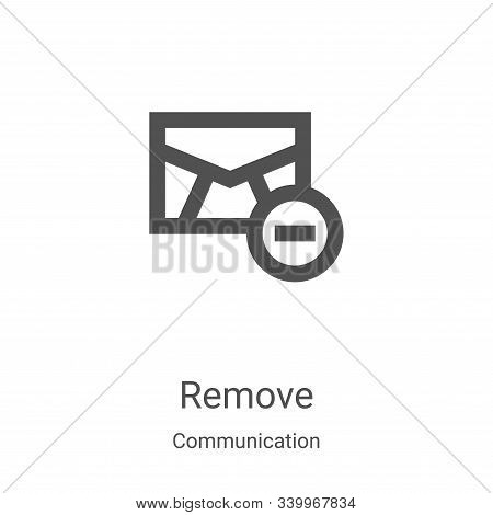 remove icon isolated on white background from communication collection. remove icon trendy and moder