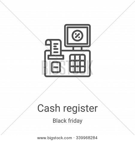cash register icon isolated on white background from black friday collection. cash register icon tre