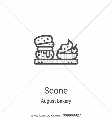 scone icon isolated on white background from august bakery collection. scone icon trendy and modern