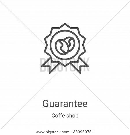 guarantee icon isolated on white background from coffe shop collection. guarantee icon trendy and mo