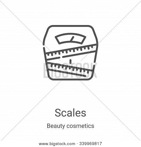 scales icon isolated on white background from beauty cosmetics collection. scales icon trendy and mo