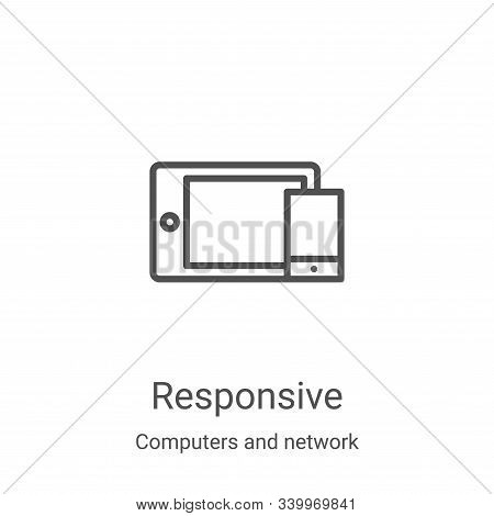 responsive icon isolated on white background from computers and network collection. responsive icon