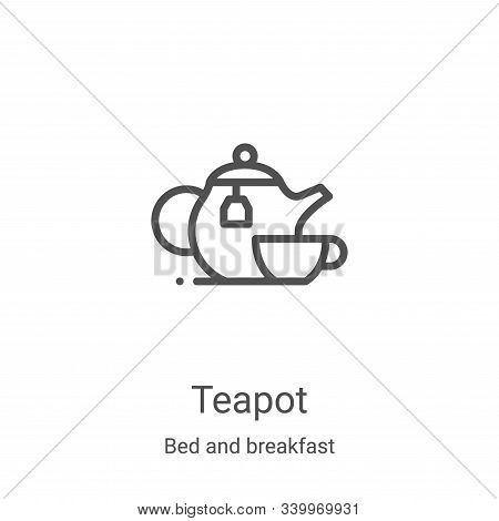 teapot icon isolated on white background from bed and breakfast collection. teapot icon trendy and m