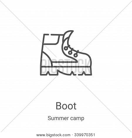 boot icon isolated on white background from summer camp collection. boot icon trendy and modern boot