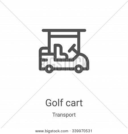 golf cart icon isolated on white background from transport collection. golf cart icon trendy and mod