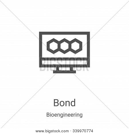 bond icon isolated on white background from bioengineering collection. bond icon trendy and modern b