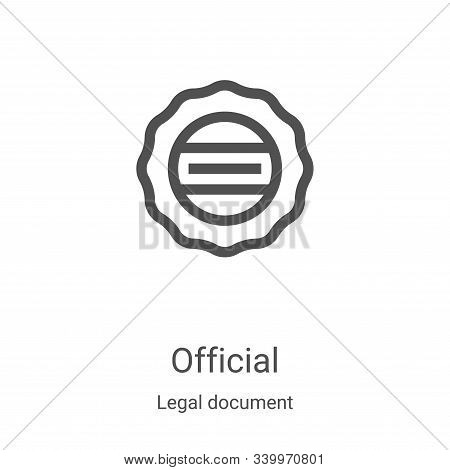 Official icon isolated on white background from legal document collection. Official icon trendy and