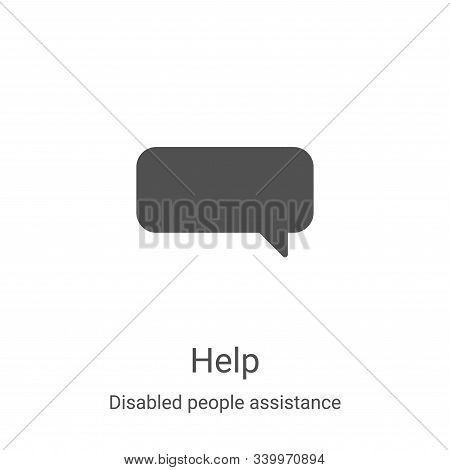 help icon isolated on white background from disabled people assistance collection. help icon trendy