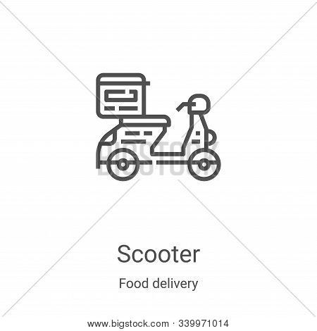 scooter icon isolated on white background from food delivery collection. scooter icon trendy and mod