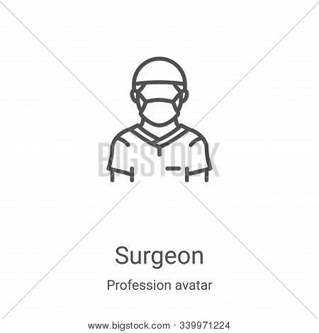 surgeon icon isolated on white background from profession avatar collection. surgeon icon trendy and