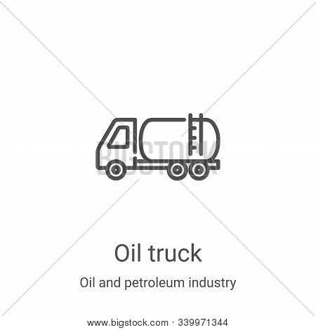 oil truck icon isolated on white background from oil and petroleum industry collection. oil truck ic