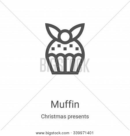 muffin icon isolated on white background from christmas presents collection. muffin icon trendy and