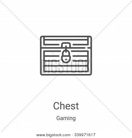 chest icon isolated on white background from gaming collection. chest icon trendy and modern chest s