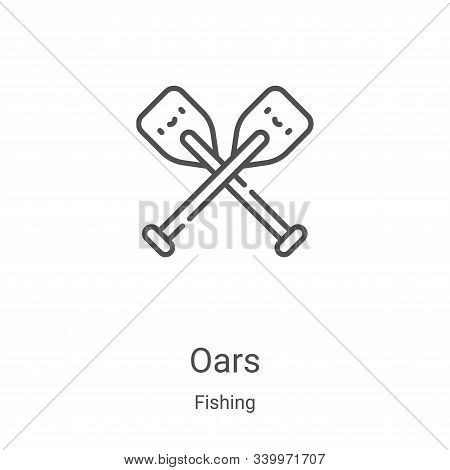oars icon isolated on white background from fishing collection. oars icon trendy and modern oars sym