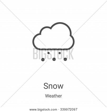 snow icon isolated on white background from weather collection. snow icon trendy and modern snow sym