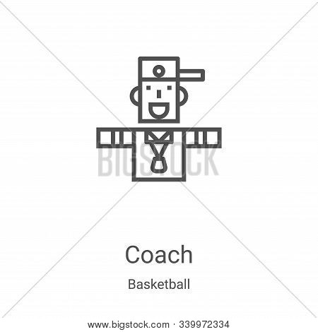 coach icon isolated on white background from basketball collection. coach icon trendy and modern coa