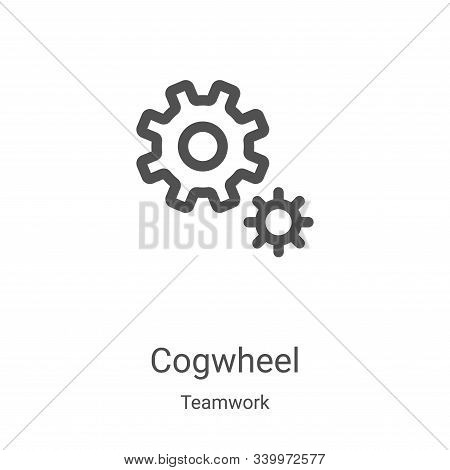 cogwheel icon isolated on white background from teamwork collection. cogwheel icon trendy and modern