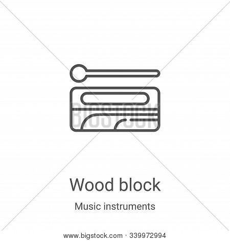 wood block icon isolated on white background from music instruments collection. wood block icon tren